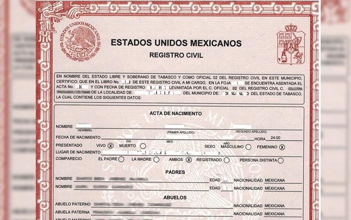 Copias certificadas de actas de nacimiento