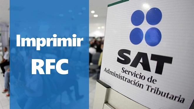 Cómo imprimir el RFC del SAT gratis